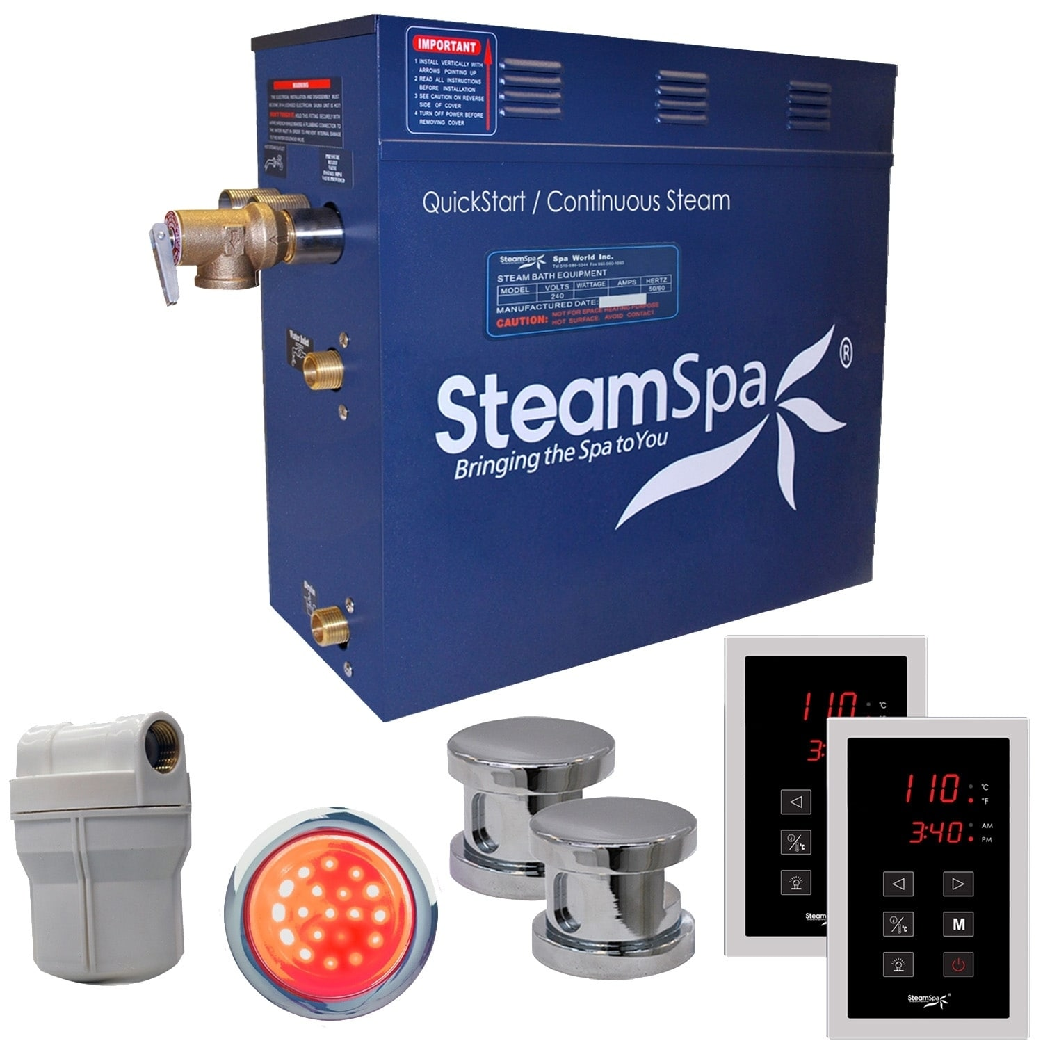 Shop For Steamspa Royal 10 5kw Touch Pad Steam Generator Package In Chrome Get Free Shipping On Everything At Overstock Your Online Home Improvement Outlet Store Get 5 In Rewards With Club O 8946926