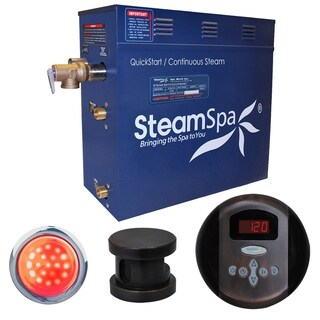 SteamSpa Indulgence 7.5kw Steam Generator Package in Oil Rubbed Bronze