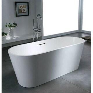 Atlantis Whirlpools Leith 28 x 67 Artificial Stone Freestanding Bathtub in White