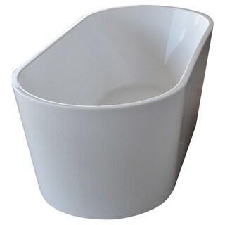 Atlantis Whirlpools Bowen 32 x 67 Oval Acrylic Freestanding Bathtub in White