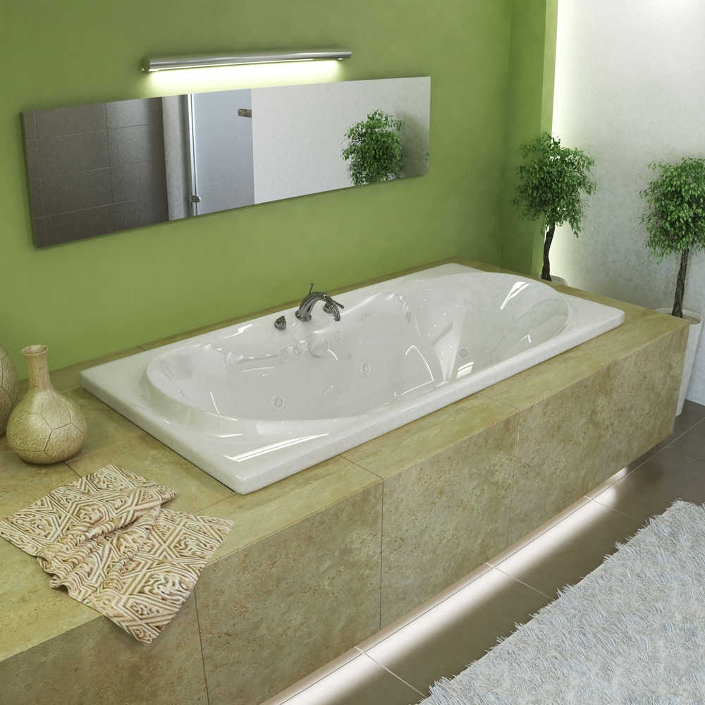 Mountain Home Canopy 36x72-inch Acrylic Whirlpool Jetted Drop-in ...