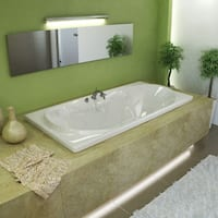Mountain Home Canopy 36x72-inch Acrylic Air and Whirlpool Jetted Drop-in Bathtub