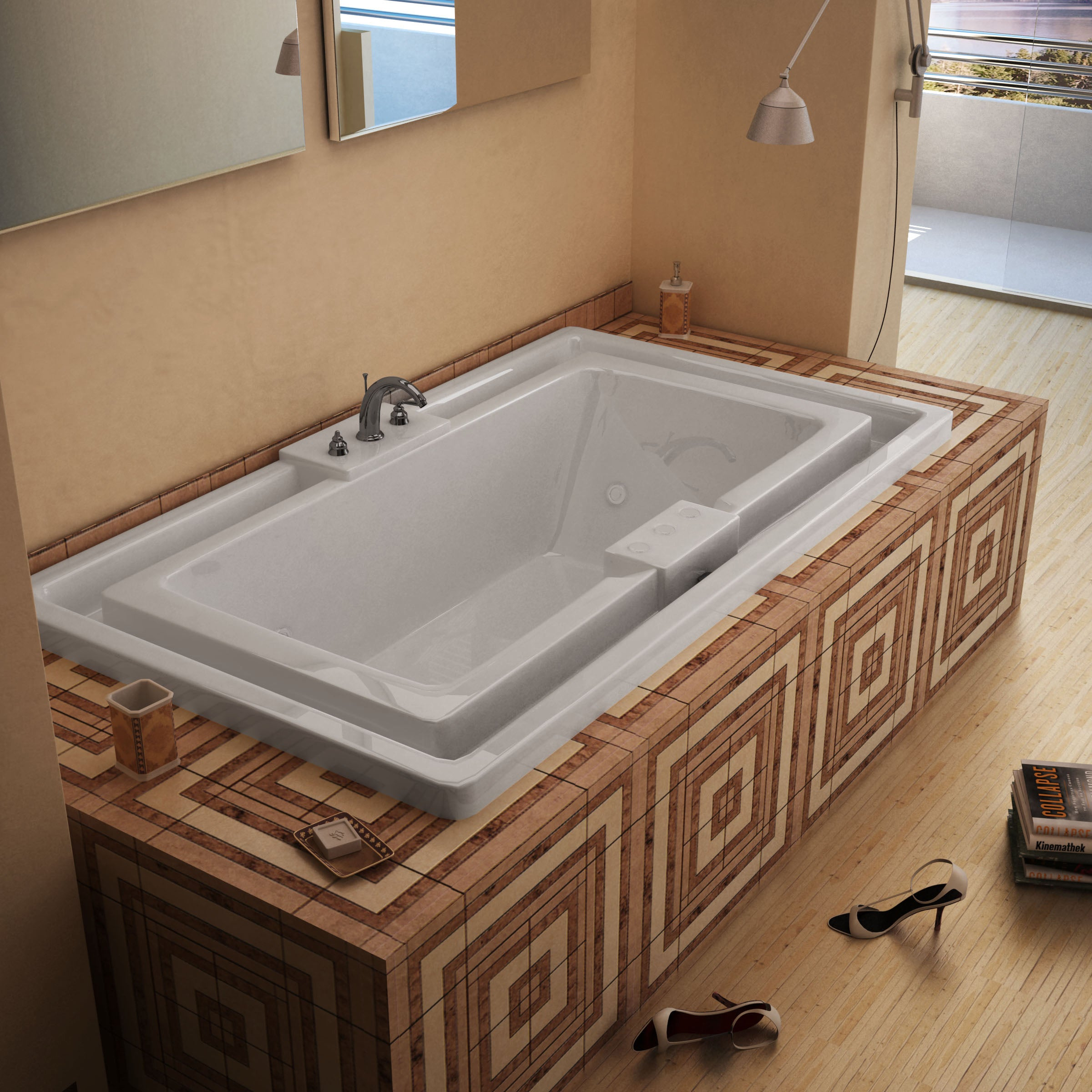 Mountain Home Evans 46x78-inch Acrylic Whirlpool Jetted Drop-in ...