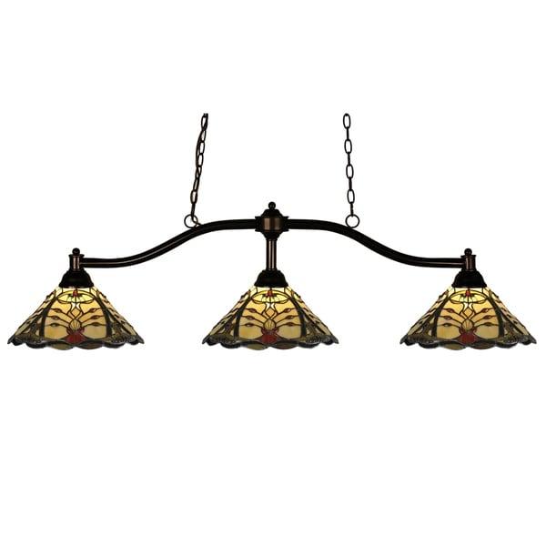 Avery Home Lighting Chance 3-light Bronze Billiard Light