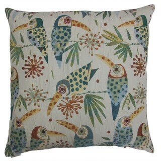 Toucan Sam Decorative Feather Filled Throw Pillow