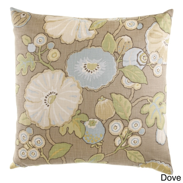 Domain Feather Filled Decorative Pillow : 24-inch Hip Floral Decorative Feather Filled Throw Pillow - Free Shipping Today - Overstock.com ...