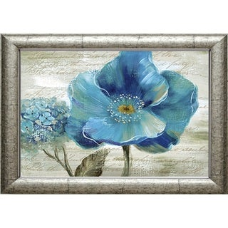 Nan 'Blue Poppy Poem II' Framed Print