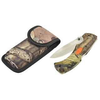 Mossy Oak Break Up Infinity Pro Hunter Folding Drop Knife