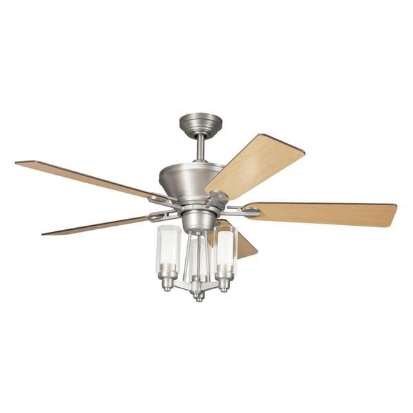 Shop Transitional Brushed Nickel Ceiling Fan And Light Kit