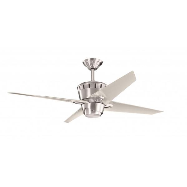 Shop Contemporary Brushed Stainless Steel Ceiling Fan And