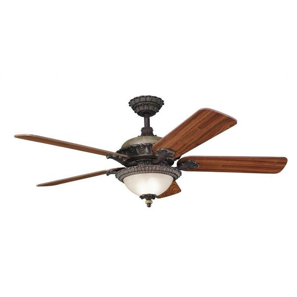Shop Traditional Colton Bronze Ceiling Fan And Light Kit