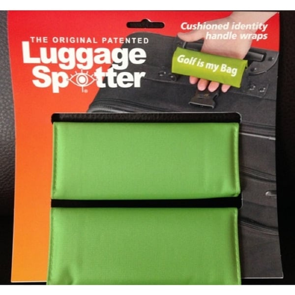 GREEN Luggage Strap Suitcase Belt Bag Identifier Confidential Pocket for ID 1