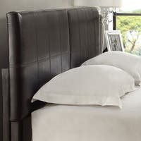 Square King or Cal King Synthetic Leather Upholstery Headboard