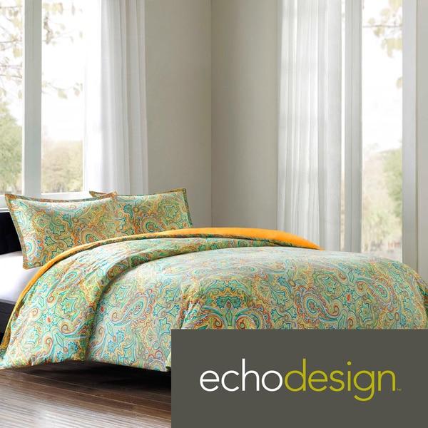 Echo Design Beacons Paisley Cotton 3-piece Duvet Cover Set
