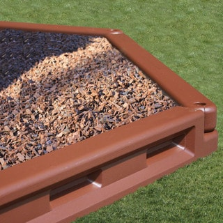 KidWise Brown Molded 6-inch Tall Playground/ Landscape Borders (Case of 24)