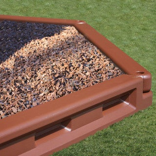 KidWise Brown Molded Plastic 6-inch Playground/ Landscape Borders (Case of 24)