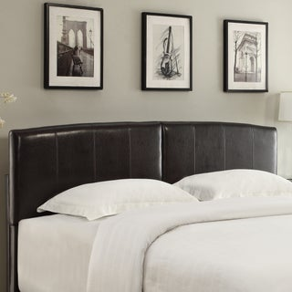 Arched Chocolate Upholstered Headboard