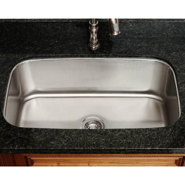 Polaris Single Bowl Brushed Satin Stainless Steel Sink