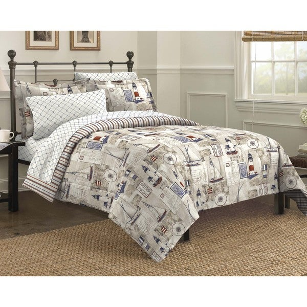 Shop Cape Cod 7 Piece Bed In A Bag With Sheet Set