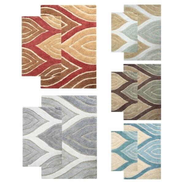 Davenport Cotton 2-piece Bath Rug Set - includes BONUS step out mat