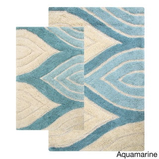 Davenport Cotton 2-piece Bath Rug Set - includes BONUS step out mat