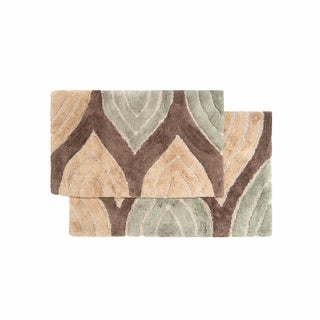 Davenport Cotton 2 Piece Bath Rug Set   Includes BONUS Step Out Mat
