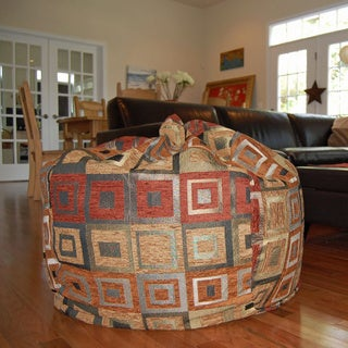 Chenille Squares 36-inch Washable Bean Bag Chair