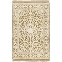 Safavieh Hand-knotted Ganges River Ivory/ Green Wool Rug - 2' x 3'