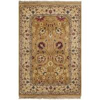 Safavieh Hand-knotted Ganges River Gold/ Ivory Wool Rug - 2' X 3'