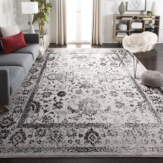 Safavieh Adirondack Vintage Distressed Grey / Black Rug (6' x 9')