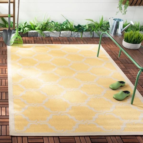 Safavieh Courtyard Moroccan Yellow/ Beige Indoor/ Outdoor Rug - 8' x 11'