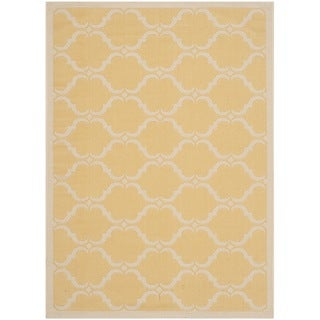 Safavieh Indoor/ Outdoor Moroccan Courtyard Yellow/ Beige Rug (2'7 x 5')