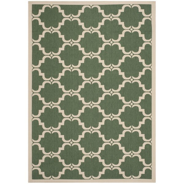 Safavieh Courtyard Moroccan Dark Green Beige Indoor