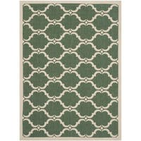 Safavieh Courtyard Moroccan Dark Green/ Beige Indoor/ Outdoor Rug - 2'7 x 5'