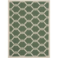 Safavieh Courtyard Moroccan Dark Green/ Beige Indoor/ Outdoor Rug (2'7 x 5') - 2'7 x 5'