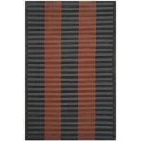Safavieh Hand-knotted Nepalese Dark Beige/ Navy Wool Rug - 5' x 8'