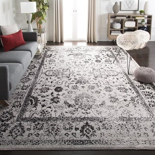 Safavieh Adirondack Vintage Distressed Grey / Black Rug (5'1 x 7'6)