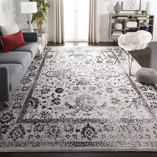 Safavieh Adirondack Vintage Distressed Grey / Black Rug (8' x 10')