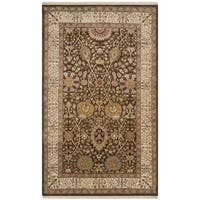 Safavieh Hand-knotted Lavar Brown/ Ivory Wool Rug - 3' x 5'