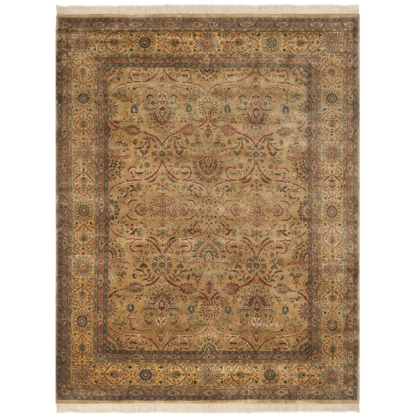 Safavieh Hand-knotted Ganges River Camel/ Gold Wool Rug - 8' x 10'
