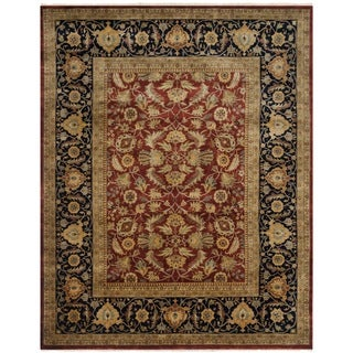 Safavieh Hand-knotted Farahan Sarouk Rust/ Navy Wool Rug (6' x 9')
