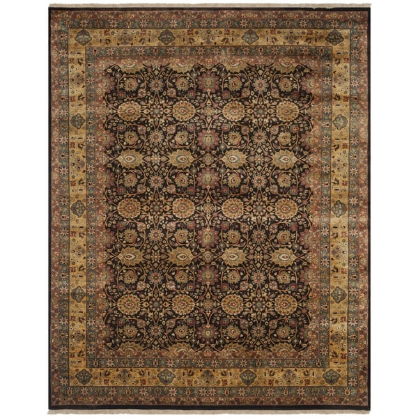 Safavieh Hand-knotted Ganges River Brown/ Gold Wool Rug - 8' x 10'