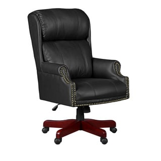 Barrington Traditional Leather Judges Chair