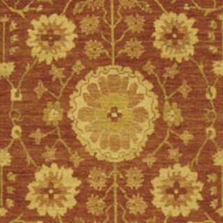 Safavieh Hand-knotted Peshawar Vegetable Dye Rust/ Lemon Wool Rug (3' x 10')