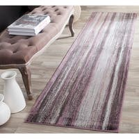 """Safavieh Vintage Charcoal/ Multi Abstract Distressed Silky Viscose Rug - 2'2"""" x 8' Runner"""