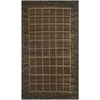 Safavieh Hand-knotted Nepalese Modern Brown Wool/ Silk Rug - 3' x 5'