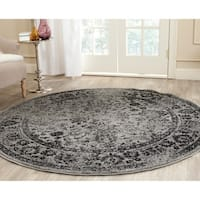 Safavieh Adirondack Vintage Distressed Grey / Black Rug (6' Round) - 6'