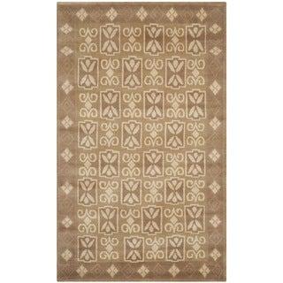 Safavieh Hand-knotted Nepalese Beige Wool/ Silk Rug (3' x 5')
