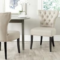 Safavieh En Vogue Dining Dharma Biscuit Beige Polyester Dining Chairs (Set of 2)