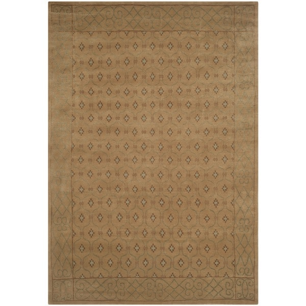Safavieh Hand-knotted Nepalese Neutral Wool/ Silk Rug - Assorted - 8' x 10'